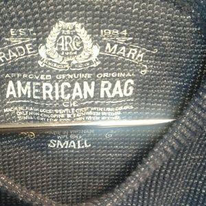 American Rag Tops - American Raglan Denim Look Top EUC